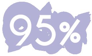 95 por ciento